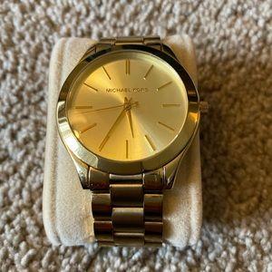 Michael Kors Slim Runway MK3179 42mm Gold Watch